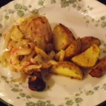 Chicken with caramelized apple sauce