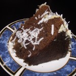 Chocolate cake with coconut and rum