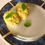 mustard and shrimp deviled eggs
