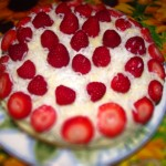 Lemon Victoria Sandwich Cake with Raspberries, Strawberries and Clotted cream